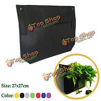 1 карманы настенные войлочные сумки для высадки растений в помещении на открытом воздухе завод расти мешок