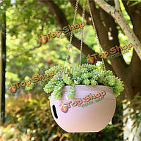 Пластиковые висячие кашпо горшок дома двор висячие цветы корзины с цепью