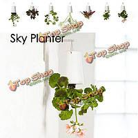 Дом садовый декор небе висит кашпо цветочный горшок вверх дном цветочном горшке
