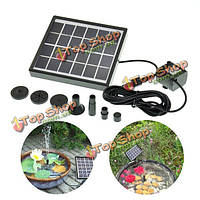 5V 1.5w солнечная энергия dc бесщеточная способная погружаться в воду вода качают пейзажный фонтан сада
