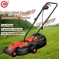 Бода 110v 1200W электрическая газонокосилка ручная толчок садоводство триммер прополка машины