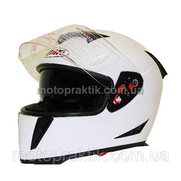 Шлем (интеграл) Ataki FF311 Solid белый глянцевый