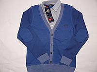 Кофта-рубашка обманка 5-8лет