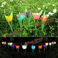 Дачи солнечной энергии красочный тюльпан LED свет открытый газон двор пейзаж лампа