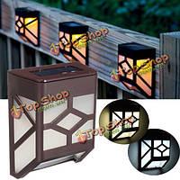0.2w настенный солнечной Powr 2 LED Свет ландшафт сада водонепроницаемый забор лампы