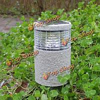Сад солнечный камень столб белый теплый белый LED свет открытый водонепроницаемый светильник украшения