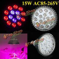 Светодиодная фитолампа для растений 15w E27 10 красный 5 синий LED