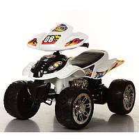 Детский квадроцикл M 2403ER-1-2 колеса EVA, черно-белый ***
