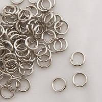 Соединительное кольцо цвет серебро 4 мм