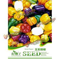 20шт multi цвета сладкий перец семена органические вкус овощей фруктов