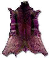 Темно фиолетовая экзотическая шкурка для декора интерьера, фото 1