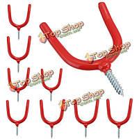 10шт настенные Y-типа лопаты метла металлические крючки дома сад wareshouse инструменты pothhook Место