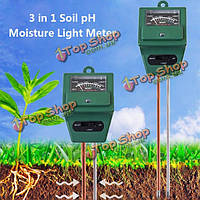 3в1 сад тестер влагомер почвы анализ кислотности рН света тест