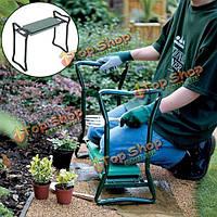 Складной из нержавеющей стали сада генофлекторий стула ева подушка сиденья садоводство портативный инструмент