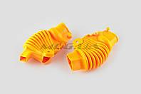 """Пыльники резиновые на ручки выжимные на мототехнику  (универсальные, желтые)   """"XJB"""""""