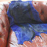 Синяя экзотическая шкурка для декора интерьера, фото 2