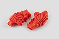"""Гумові пильовики на ручки вижимні на мототехніку (універсальні, червоні) """"XJB"""""""
