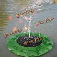 Солнечная плавающей lotus листьев фонтан воды насос садового пруда украшения