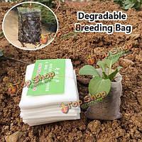 100шт нетканые ткани растения рассады сумки разложению разведения мешок
