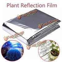 82x47-дюймов серебро завод светоотражающая пленка расти Аксессуары для фонарей парникового отражательной покрытие