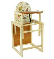 Стульчик для кормления ребенка деревянный Сова