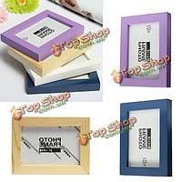 Мульти цвет деревянные фото рамка фото альбом домашний декор