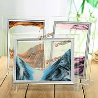 Песок искусства картина перемещения песка подарок стекло держатель домашнего офиса стол стол декора плывун день рождения