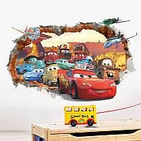 """Виниловая наклейка на стену """"Тачки 3D и самолеты"""", фото 1"""