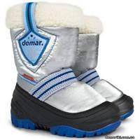 Детские зимние сапоги Demar TOBY a (серебристо-синие)
