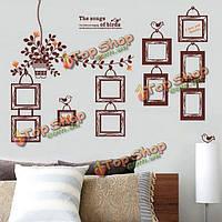 10шт diy фоторамки стены стикеры цветок ротанга Термоаппликации Винил ПВХ домашнего украшения
