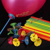 100шт синий шар палочки с разноцветными стаканами