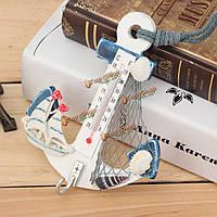 Якорь термометр ракушка морская звезда сетка крытый искусства стены Средиземноморский стиль домашнего декора