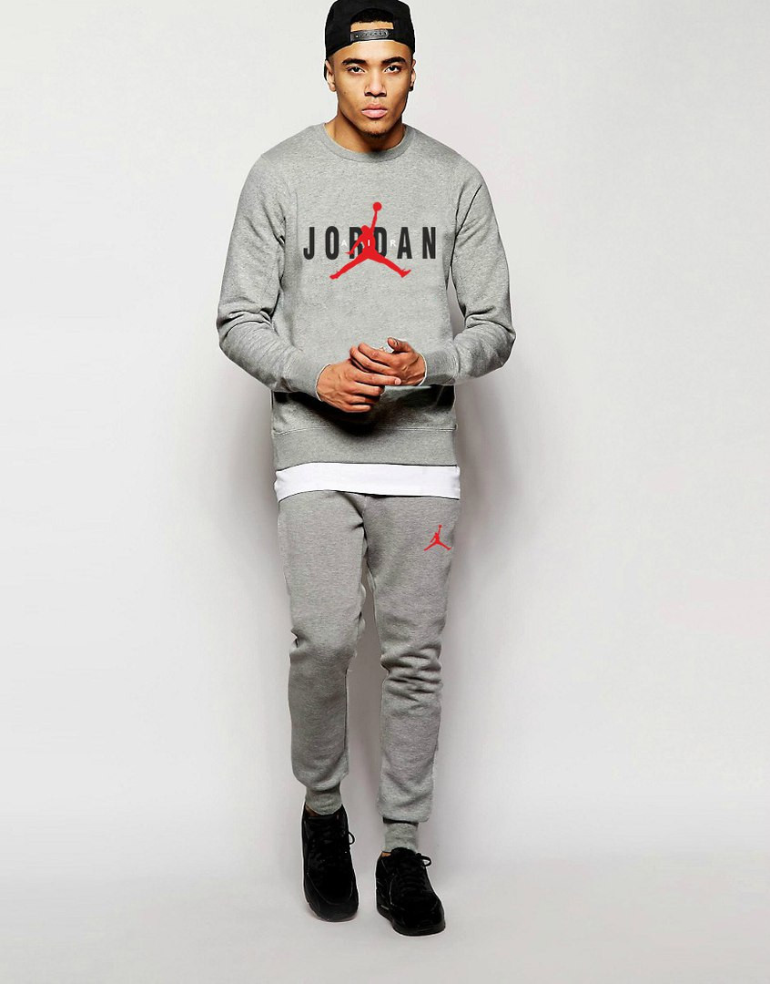 Мужской Спортивный костюм AIR Jordan серый