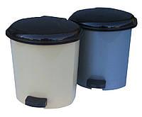 """Ведро мусорное пластиковое с педалью 3,5 литра """"Горизонт"""""""