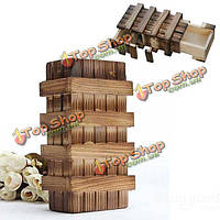 Магическая деревянная коробка с потайными ящиками