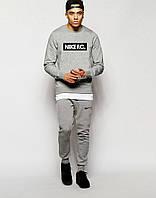 Мужской Спортивный костюм Nike FC серый