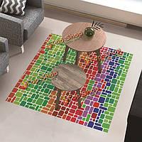 Вол пол наклейка чайный столик декора водонепроницаемый красочные блоки анти занос улучшение этаж пропуск домой