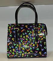 """Женская сумка """"MIC-Люкс"""" абстрактный принт, стильная"""