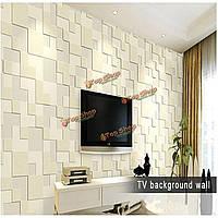 10м современная отделка нетканые обои домой фон простой 3D мозаика гостиной