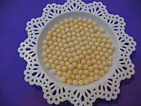 Посыпка шарики молочный жемчуг 7 мм,  50 грамм