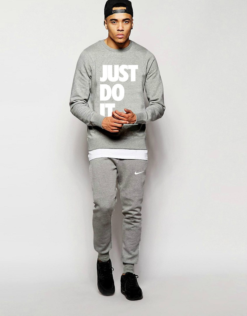 Мужской Спортивный костюм Nike JUST DO IT серый