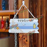 Приветствуйте средиземноморский деревянный навигационный знак пляжа домашнее украшение настенного ковра магазина