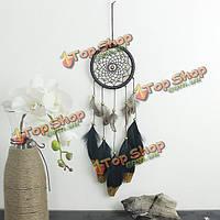 Ручной работы натуральные перья Dreamcatcher американские фолк-пользовательские подарки висит орнамент декора