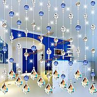 10 PC ясный кулон художественного оформления части призм лампы кленового листа хрусталя висящие 38x26мм