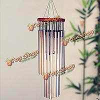 Удивительное 27 серебряных труб ветра перезвонов церковных колоколов вися декор