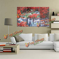 Триптих бескаркасной отпечатки на холсте стены искусства картины мангровых лесов водопад домашний декор