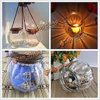 Тыква висит стеклянная бутылка подсвечник ваза канделябр подарок подсвечник свечи домашнего декора