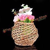 Мини-лоза rotin плетеной вазы zakkz цветок бутылки украшения цветочной композиции домашнего декора
