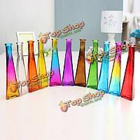 Цвет прозрачный мини стеклянная ваза zakkz цветка бутылки стеклянные украшения цветок организовать домашний декор