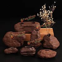Zakkz имитирующий камень керамические вазы керамические украшения ручной работы цветок подарок расположение гончарного декора